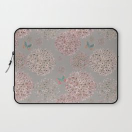 Hand painted Alliums and butterflies Laptop Sleeve