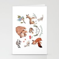 camp Stationery Cards featuring Camp Companions by Brooke Weeber