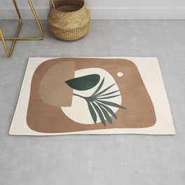 Abstract Plant in a Pot Rug