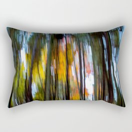 Blurred Trees Rectangular Pillow