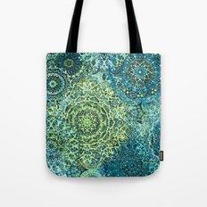 Blue Green Mandala Medallions Tote Bag