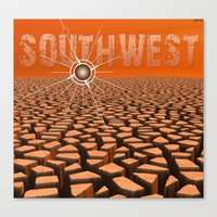 southwest Canvas Prints featuring Southwest by Phil Perkins