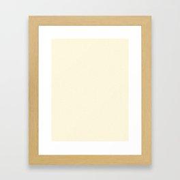 Dense Melange - White and Blond Yellow Framed Art Print