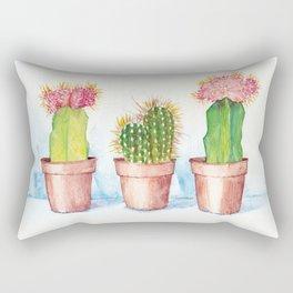 Pastel Cactus Trio Rectangular Pillow