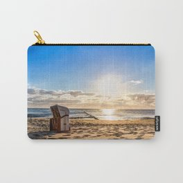 Beach chair in the morning after sunrise Carry-All Pouch