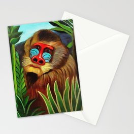 Henri Rousseau Mandrill In The Jungle Stationery Cards