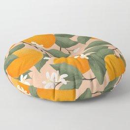 fresh citrus Floor Pillow