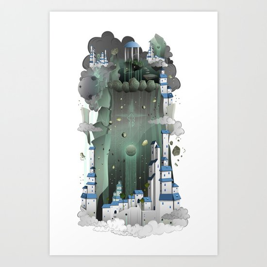 Paradise City Art Print