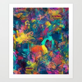 Tribute to color Art Print