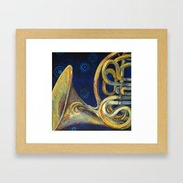 French Horn Framed Art Print