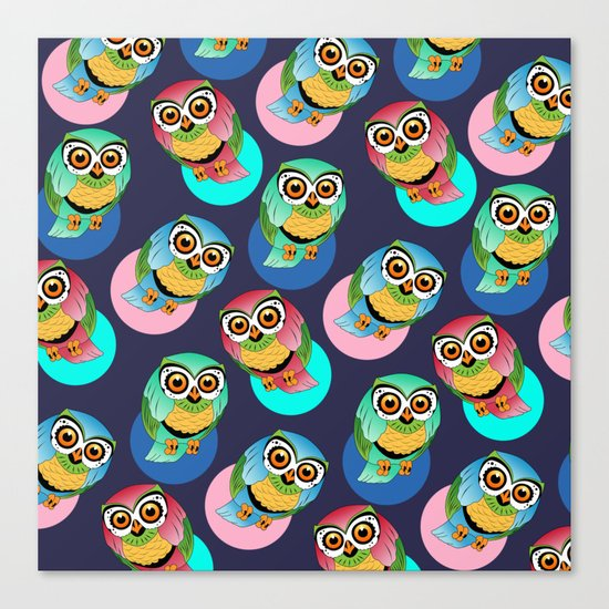 cute birds Canvas Print