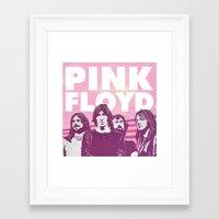 floyd Framed Art Prints featuring Pink Floyd by jnk2007