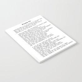 Psalm 91 #minimalism Notebook