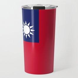 Taiwan flag emblem Travel Mug