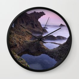Roche Reefs At Sunset. Sancti Petri. Spain Wall Clock