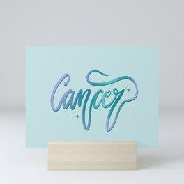 Cancer Zodiac Script Design Mini Art Print