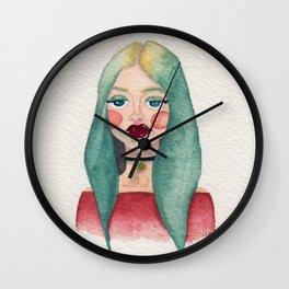 Aqua Girl Wall Clock