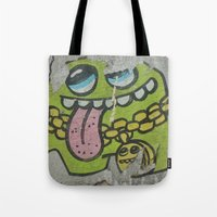grafitti Tote Bags featuring Key West Grafitti by Cassidy Marshall