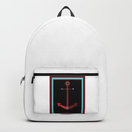 Rose Anchor with Black Background Backpack