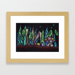 Fairy Garden Village Framed Art Print