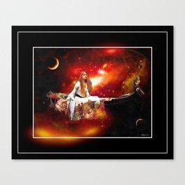 Galactic lady of Shalott Canvas Print
