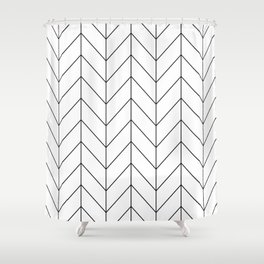 black and white arrows Shower Curtain
