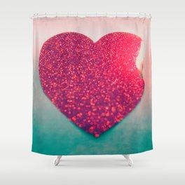 Burning love Shower Curtain