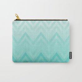Fading Teal Chevron Carry-All Pouch