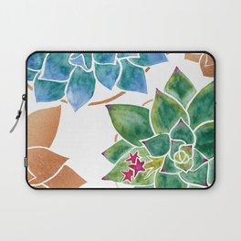 Watercolour Succulents and Copper, Watercolor Succulents and Copper Laptop Sleeve