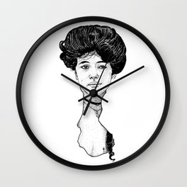 Victorian Era - Beautiful Woman - Stippling - Evelyn Nesbit - Gibson Girl Wall Clock