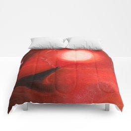 Red Dancer in the Sky Comforters