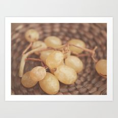White Muscat Grapes Art Print
