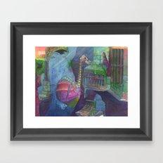 Ostridge Submersible Framed Art Print