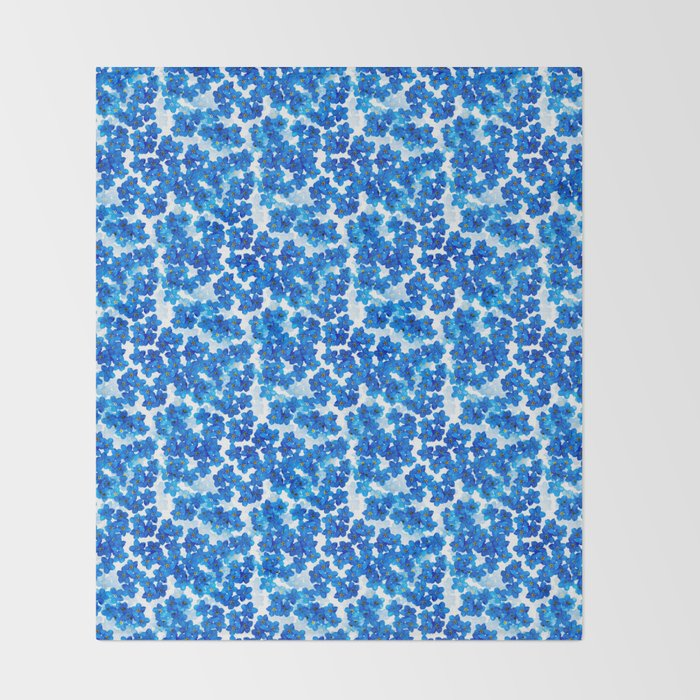 Forget-me-not Flowers White Background #decor #society6 #buyart Throw Blanket