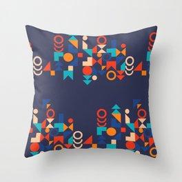 Modern Bauhaus colorful geometric shapes Throw Pillow