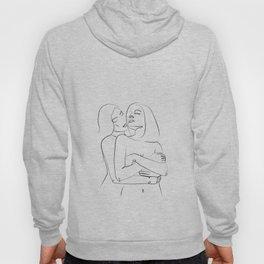 hug of love- Minimalist line art Hoody