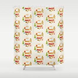 Morrison Lake Canadian Cottage Pattern Shower Curtain