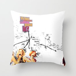 Who are you calling past it? Throw Pillow