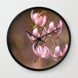 Pink Nostalgic Flowers #decor #society6 Wall Clock