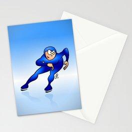 Speed Skater Stationery Cards