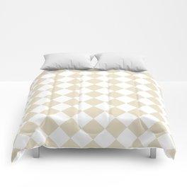 Diamonds - White and Pearl Brown Comforters