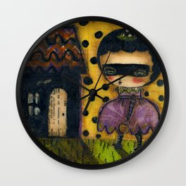 The Spooky Halloween House Wall Clock