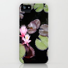 Lily pad flowers iPhone Case