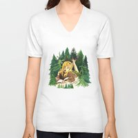 laura palmer V-neck T-shirts featuring Twin Peaks Secret Diary of Laura Palmer by Lindsey Caneso