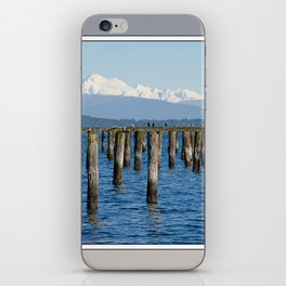 MOUNT BAKER KOMA KULSHAN AND OLD PILINGS  iPhone Skin