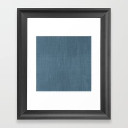 Blue Indigo Denim Framed Art Print
