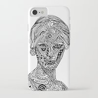 iPhone Cases featuring Space Goddess by wonton doodles