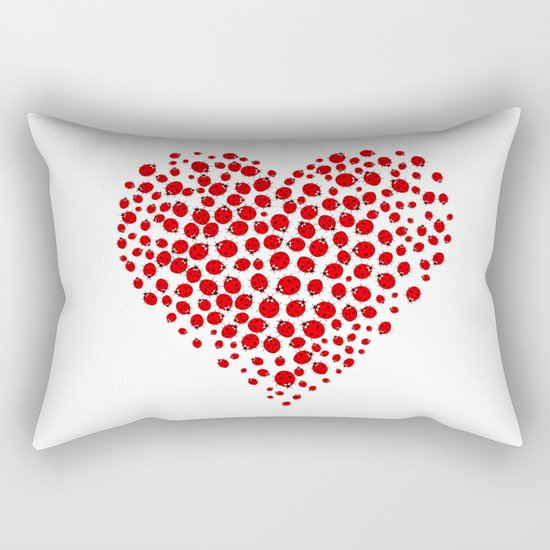 Ladybug heart Rectangular Pillow