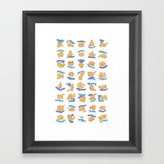 CAT MOVES Framed Art Print
