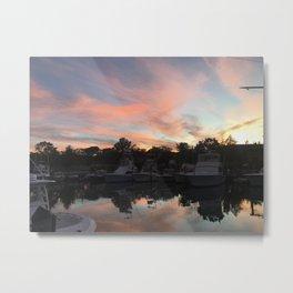 Dockside Sunset Metal Print